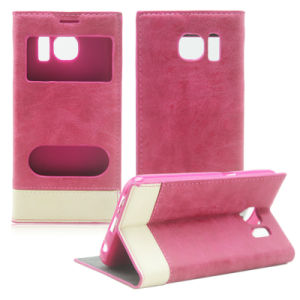 Hot Selling PU Flip Cell Mobile Phone Case for Samsung Galaxy S6