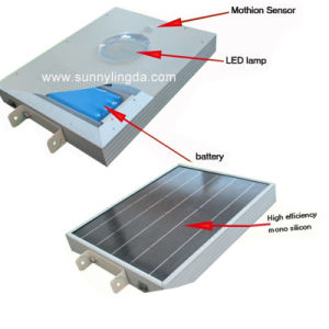 All in One 10W Solar LED Street Light (5W, 8W, 10W, 12W, 15W, 20W, 25W, 30W)