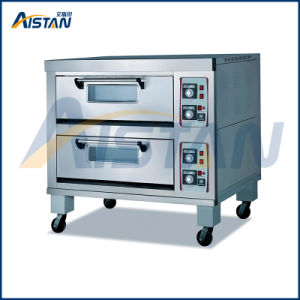 Bsd-40A Stainless Steel 2 Deck -4 Stones Electric Pizza Oven for Food Machinery pictures & photos