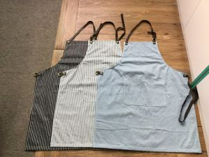 Custom Navy and Black Stripe Work Apron pictures & photos