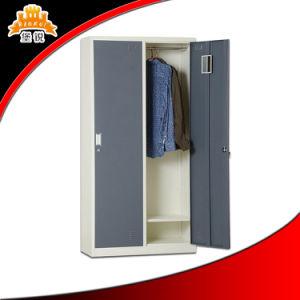 Steel 2-Door Bedroom Personal Storage Clothes Wardrobe Cabinet pictures & photos