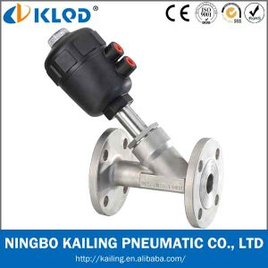 2 Way Water Angle Valves Flange Connection pictures & photos