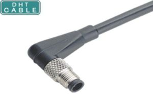 R/a Right Angle Type M5 Male Waterproof Car Sensor Cable Medical Equipment