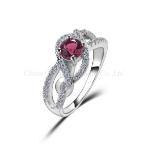 Fashion Elegant Luxury Wax Micro Setting 925 Silver Ring