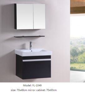 Bathroom Furniture Oak Wood Cabinet with Mirror Cabinet pictures & photos