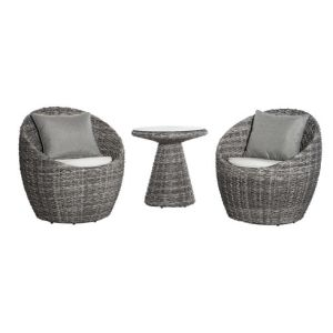Well Furnir Wicker 3 Piece Deep Seating Group with Cushion WF-17004 pictures & photos