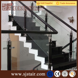 Indoor Wood Handrail Stainless Steel Glass Stair Railing (SJ-S087) pictures & photos