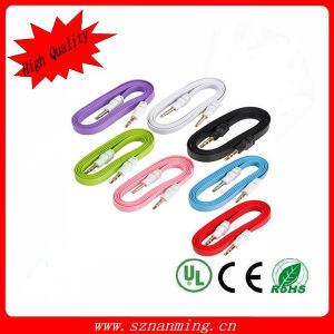 DC3.5mm Male Audio and Video Colourful Flat Cable pictures & photos