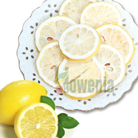 Natural Wheel Slice Freeze Dried Fruit Lemon Lime
