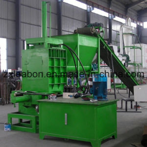 Horizontal Hydraulic Wood Shaving Bagging Machine pictures & photos