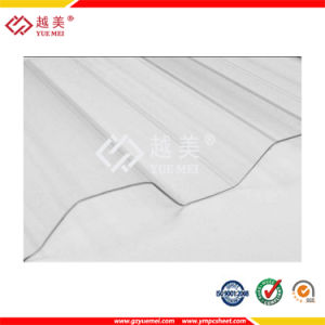 Yuemei UV Protection Transparent PC Corrugated 0.8mm Sheet pictures & photos
