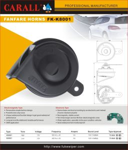 Fk-K8001 Alarm Brand New Twin Pack Powerful Magic Voice waterproof DC 12V Car Speaker Auto Parts Shell Horns with Relay pictures & photos