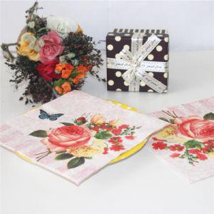 Flower Design Paper Napkin Party Decoration pictures & photos