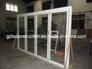 Double Glazing Aluminum Bi Folding Door Withbuilt-in Shutters pictures & photos