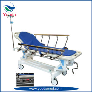 Crank Height Adjustable Patient Transfer Trolley pictures & photos