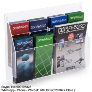 2 Layers Clear Acrylic Brochure Display Rack pictures & photos