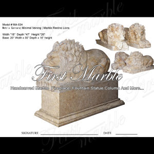 Metrix Carrara Lion Sculpture for Home Decoraton Ma-534