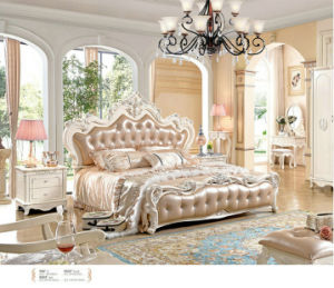 2017 Luxury King Size Wood Bedroom Furniture Set/French Style Bed (906) pictures & photos