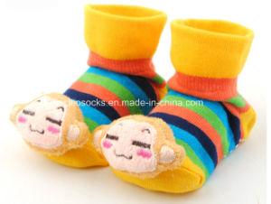 20167 Hot Sale 3D Anti-Slip Fancy Cotton Baby Socks pictures & photos