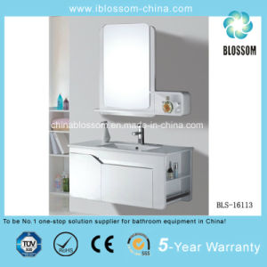 Modern Design Wall Mounted PVC Board Bathroom Cabinet, Vanity (BLS-16113) pictures & photos