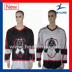 Healong Custom OEM Dye Sublimation Korea Ice Hockey Jersey pictures & photos