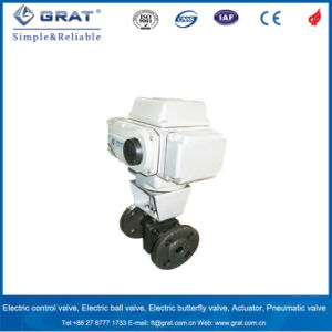 DC 24V Electric PVC Ball Valve pictures & photos