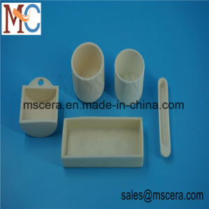 High Temperature Al2O3 Cylindrical Ceramic Raw Material Crucibles pictures & photos
