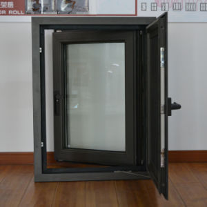 High Quality Thermal Break Aluminum Profile Casement Window with Multi Lock & Screen K03006 pictures & photos