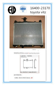 Aluminum Brazed Auto Radiator for Toyota Vitz pictures & photos