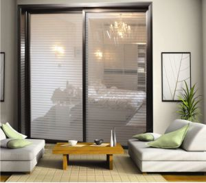 Partition Aluminum Sliding Doors with Blinds in Side pictures & photos