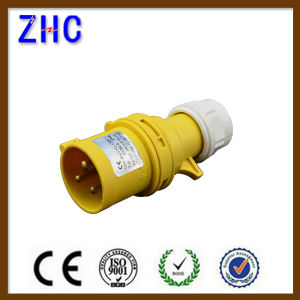 110V 4h Yellow Color IP44 2p+E Male Industrial Plug pictures & photos