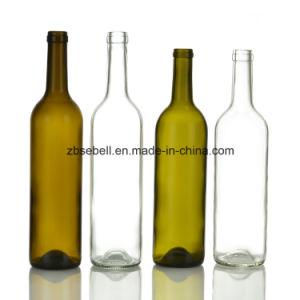 750ml Standard Cork Finish Bordeaux Wine Bottle pictures & photos