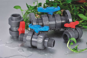 Plastic Double Union Ball Valve for Irrigation with ISO9001 (NPT) pictures & photos