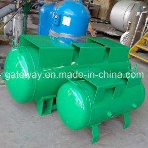 Profesional Manufacture Horizontal Green Gas Tank with 50L