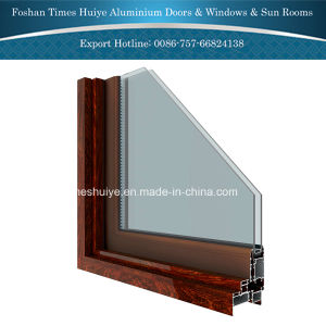 Aluminium Fixed Window with Double-Layer Glasses pictures & photos
