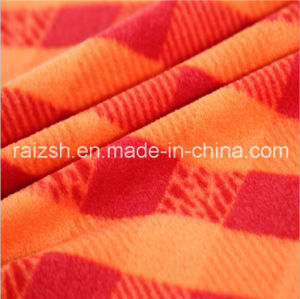 Polyester Printing Plaid Fleece Fabric for Hat Clothing Toys pictures & photos