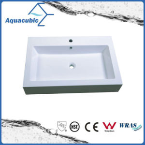 Rectangular Single Lever Polymarble Vanity Tops Acb0812 pictures & photos