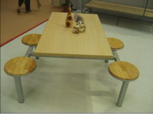 Cheap Canteen Furniture 4 Seat Restaurant Table pictures & photos