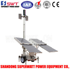 Sunight Vs Low Voltage Solar Light Tower with LED Lights 24VDC