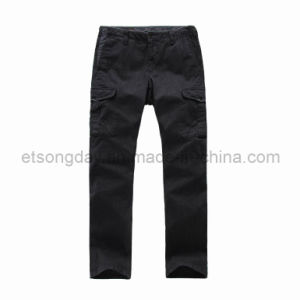 Black 100% Cotton Men′s Leisure Trousers (AZP-245R) pictures & photos