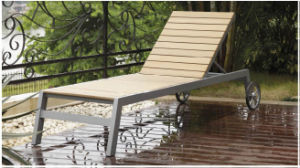 Outdoor Garden Furniture Plastic Wood Chaise Lounge (BZ-C047)