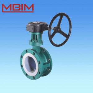 DIN 2501 Flange FEP Lined Butterfly Valve pictures & photos