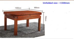 Creative Design Extendable Ash Wood Dining Table pictures & photos