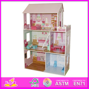 2014 Children Toy, Beartiful Princess Wooden Doll House, Hot Sale Kids Toys, High Quality Children Toys W06A044 pictures & photos