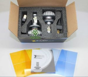 Fanless 30W 3000lm 3s Motorcycle LED Headlight H4 pictures & photos
