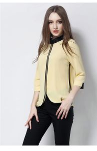 New Design Lady Formal Chiffon Blouse for Office OEM pictures & photos