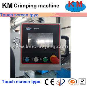 Touchscreen Side Opening Hose Crimping Machine for Large Flange & Elbow pictures & photos