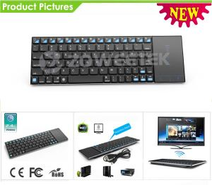 Wireless Computer Keyboard with Scissor-Switch Keys and Touchpad