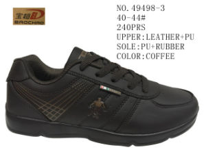 No. 49498 PU Men Casual Stock Shoes pictures & photos