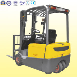 3 Wheels Electric Forklift with Dual Front Drive Wheel pictures & photos